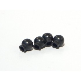 Ball 6,8x7,3x3mm (black)(4pcs)