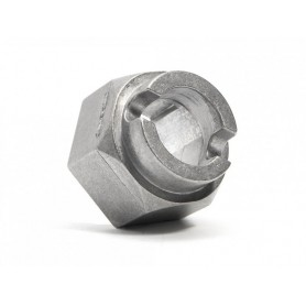 BRAKE HUB (ALLOY CAST/SILVER)