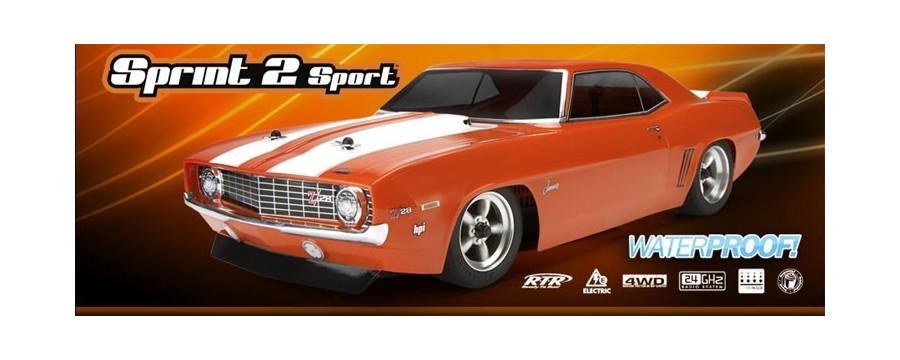 Peças - HPI Racing - Sprint 2 Sport w/ 1969 Chevrolet Camaro 1/10